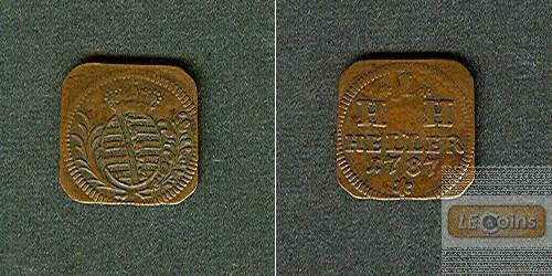 Sachsen Hildburghausen 1 Heller 1787  ss-vz