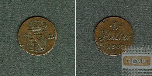 Sachsen Hildburghausen 1 Heller 1809  ss+