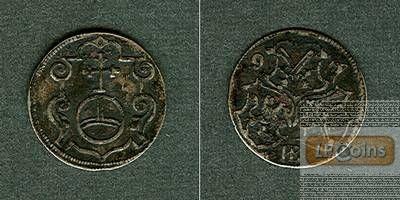 Sachsen 3 Pfennig / Dreier 1597 HB  ss+  selten