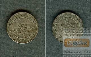 Sachsen 1 Neugroschen (10 Pfennige) 1865 B  vz-st