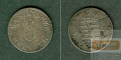 Sachsen Meiningen 6 Kreuzer 1829 L  ss/vz-