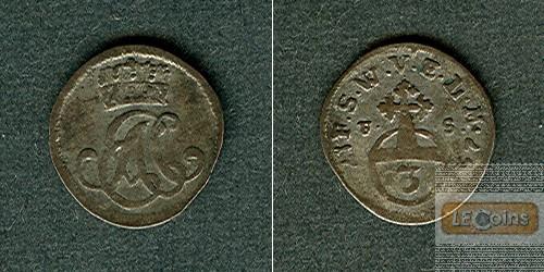 Sachsen Weimar Eisenach 3 Pfennige 1757 FS  ss