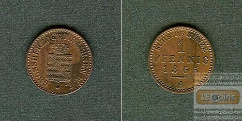 Sachsen Weimar und Eisenach 1 Pfennig 1865 A  vz-stgl.