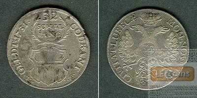 Lübeck 32 Schilling (2/3 Taler) 1731 JJJ  ss+