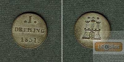 Hamburg Dreiling 1851  ss-vz/vz