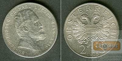Österreich 2 Schilling DR. LUEGER 1935  f.st