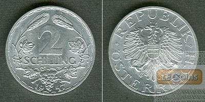 Österreich 2 Schilling 1947  f.st