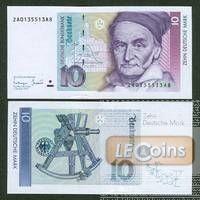BRD: 10 DEUTSCHE MARK 1993 Ersatznote  Ro.303c  I  selten