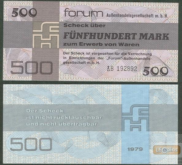 DDR: Forum-Scheck 500 MARK 1979  Ro.373a  I
