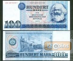 DDR: 100 MARK 1975  Ro.363b  Ersatznote  I
