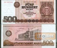 DDR: 500 MARK 1985  Ro.365b  Ersatznote  I