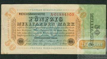50 MILLIARDEN MARK 1923  Ro.116a  II-