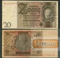 20 REICHSMARK 1929  Ro.174b  Zwischenform  II
