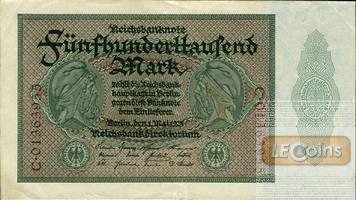 500000 MARK 1923  Ro.87b  II