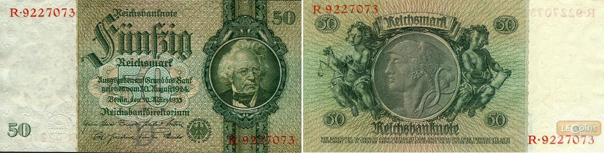 50 REICHSMARK 1933  Ro.175a  Friedensdruck  I