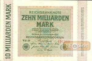 10 MILLIARDEN MARK 1923  Ro.114c  II-