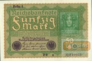 50 MARK 1919  Ro.62a  I