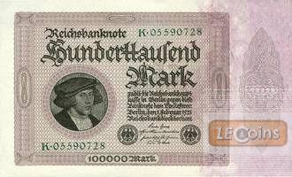 100000 MARK 1923  Ro.82a  I