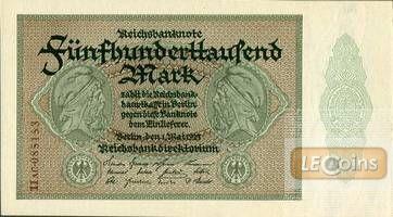500000 MARK 1923  Ro.87f  I