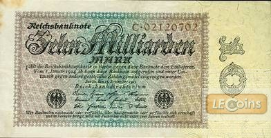 10 MILLIARDEN MARK 1923  Ro.113a  I-