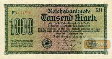 1000 MARK 1922  Ro.75o/F75a  I