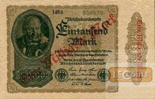 1 MILLIARDE MARK 1923  Ro.110g  II+