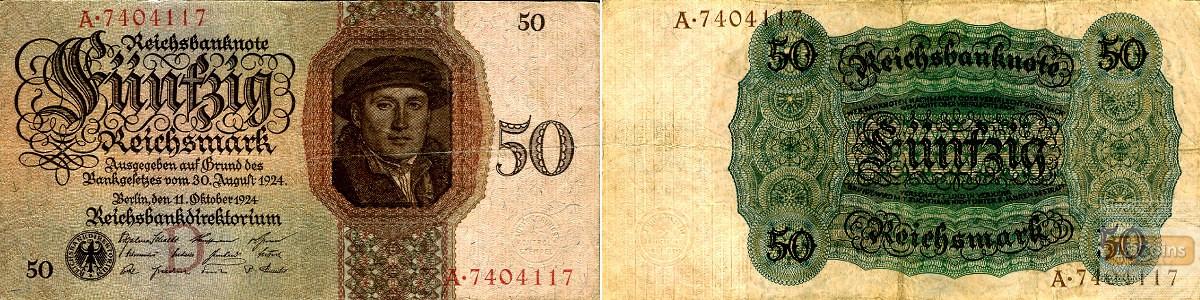 50 REICHSMARK 1924  Ro.170a  III