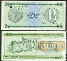 KUBA / CUBA: 20 Peso B 1985  II+