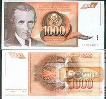 JUGOSLAWIEN 1000 Dinar 1990  I