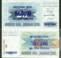 Bosnien Herzegowina: 1 Million Dinar 1993  (KM 35b)  I