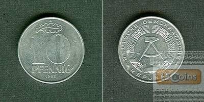 Deutschland DDR 10 Pfennig 1983 A  f.vz