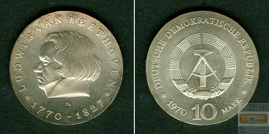 Deutschland DDR 10 M 1970  SILBER  Beethoven  st/f.st  selten