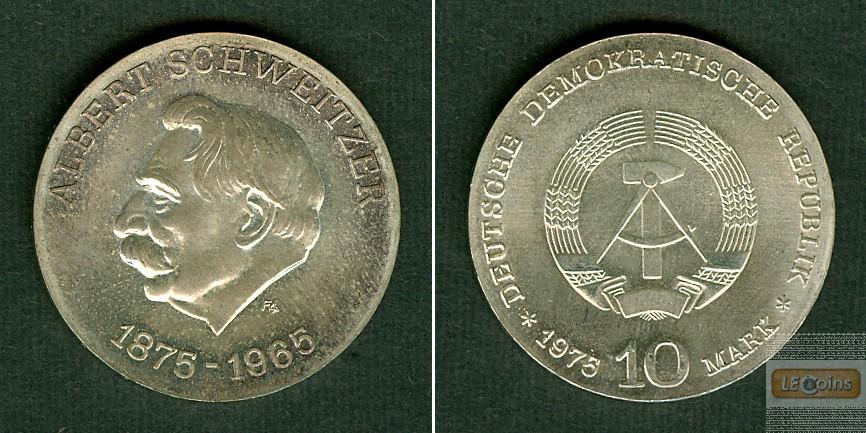 Deutschland DDR 10 M 1975  SILBER  Albert Schweitzer  ST  selten