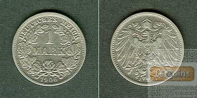 Deutsches Reich 1 Mark 1906 J  ss  selten
