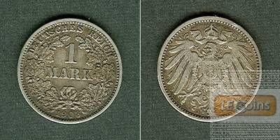Deutsches Reich 1 Mark 1908 J (J.17)  ss+