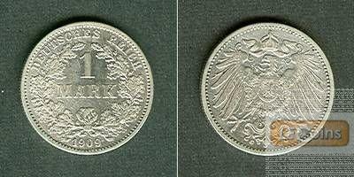 Deutsches Reich 1 Mark 1909 G vz-