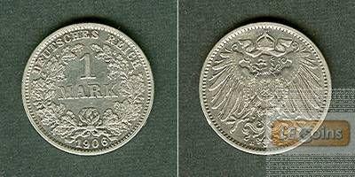 Deutsches Reich 1 Mark 1906 E  vz-