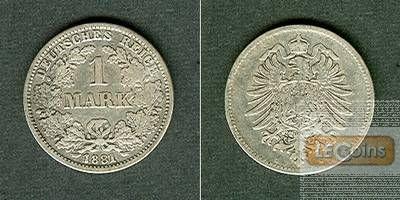 Deutsches Reich 1 Mark 1881 G (J.9)  s-ss
