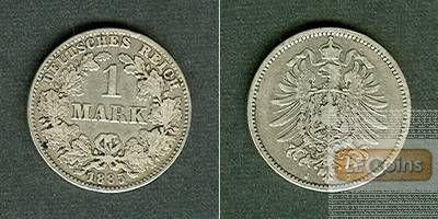 Deutsches Reich 1 Mark 1885 J (J.9)  s-ss