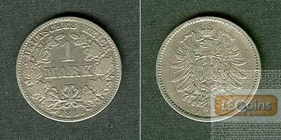 Deutsches Reich 1 Mark 1886 J (J.9)  s-ss
