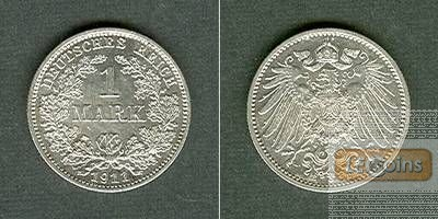 Deutsches Reich 1 Mark 1911 E (J.17)  vz