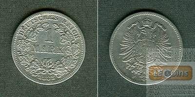 Deutsches Reich 1 Mark 1883 F (J.9)  s-ss  selten!