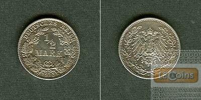 Deutsches Reich 1/2 Mark 1913 E  vz-stgl.
