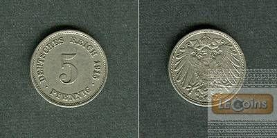 DEUTSCHES REICH 5 Pfennig 1915 G (J.12)  f.vz  selten