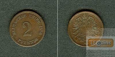 DEUTSCHES REICH 2 Pfennig 1876 H  ss-vz
