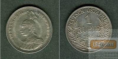 Deutsch Ostafrika 1 Rupie 1908 J  vz-/vz+