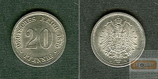 DEUTSCHES REICH 20 Pfennig 1875 D  f.stgl.