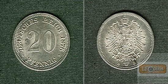 DEUTSCHES REICH 20 Pfennig 1876 D  vz-stgl.