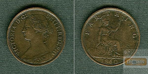 Großbritannien Farthing 1860  vz+