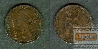 Großbritannien One Penny 1861 ss